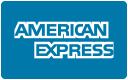 We accept: American Express.
