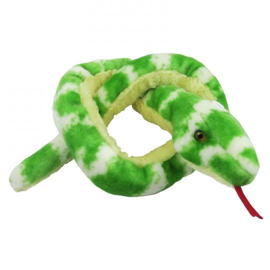 "Aurora World Emerald Tree Boa Plush Snake 50/"""