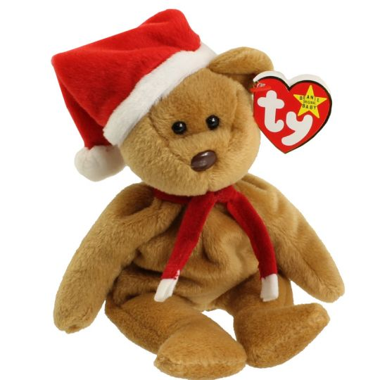 TY Beanie Baby - 1997 HOLIDAY TEDDY (8.5 inch)  1st Year   BBToyStore.com -  Toys 0815c052e3bc
