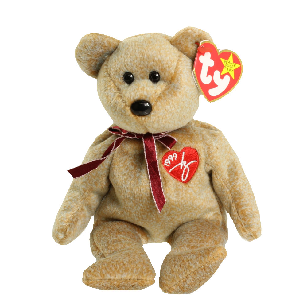 ty beanie baby - dear the bear  hallmark gold crown exclusive   8 5 inch   bbtoystore com
