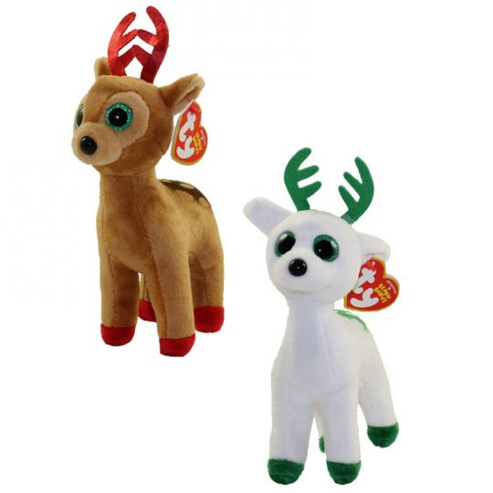 TY Beanie Babies - CHRISTMAS 2017 Releases SET of 2 (Peppermint   Tinsel)   BBToyStore.com - Toys d6a40e496be