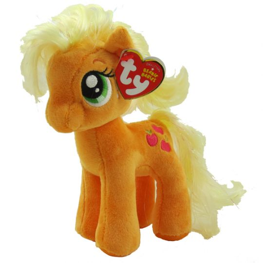 0c913d812c7 TY Beanie Baby - APPLEJACK (Sparkle Hair Strands - 7 inch) (My Little Pony)   BBToyStore.com - Toys