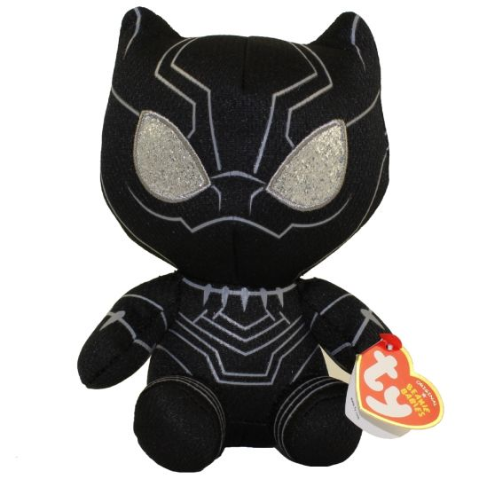 TY Beanie Baby - BLACK PANTHER (Marvel)  BBToyStore.com - Toys ... dcc199b6190