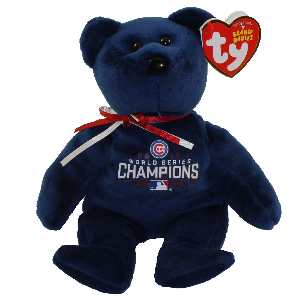 TY Beanie Baby - MLB Baseball Bear - CHAMPION (Chicago Cubs 2016 World Series Champions) (8 inch)