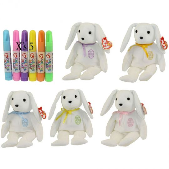 TY Beanie Babies - COLOR ME THE BUNNIES (Set of 5 Replacements)(7.5 inch)   BBToyStore.com - Toys 4789dcd797f