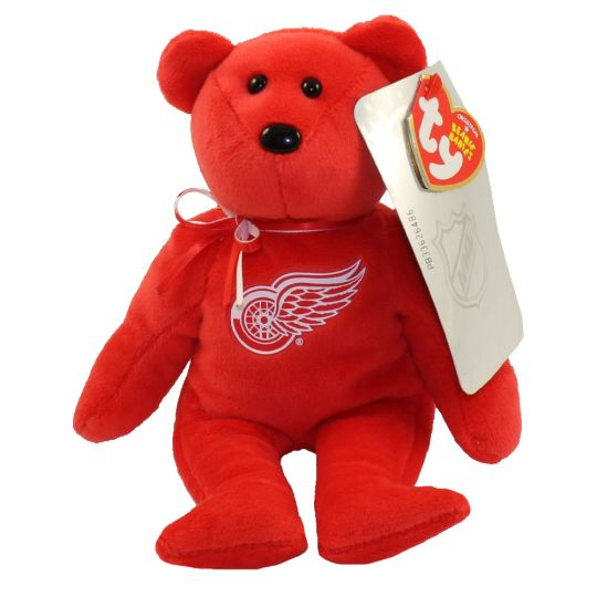 quality design df7be 90091 TY Beanie Baby - NHL Hockey Bear - DETROIT REDWINGS (8 inch)