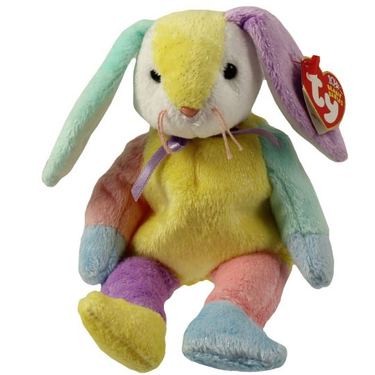 TY Beanie Baby - DIPPY the Multi-Colored Rabbit (Yellow   White Head) (8.5  inch)  BBToyStore.com - Toys be14880f147