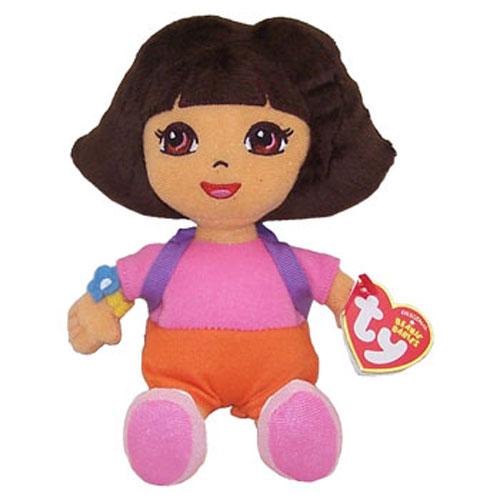 All Dora Toys : Ty beanie baby dora the explorer plush hair inch