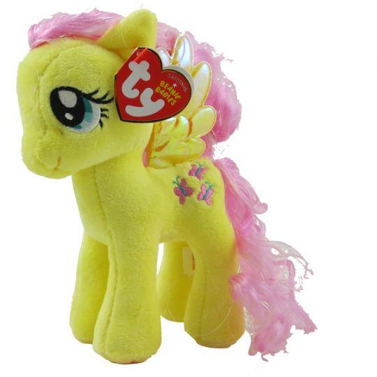 TY Beanie Baby - FLUTTERSHY (Sparkle Hair Strands - 7 inch) (My Little  Pony)  BBToyStore.com - Toys c5191a01b5f