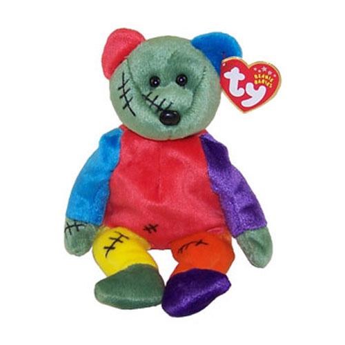 TY Beanie Baby - FRANKENTEDDY Bear (Green   Purple Feet) (8.5 inch)   BBToyStore.com - Toys a1a313c174a