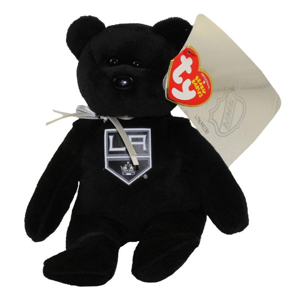 Ty beanie baby nhl hockey bear la kings 8 inch for Bb shop