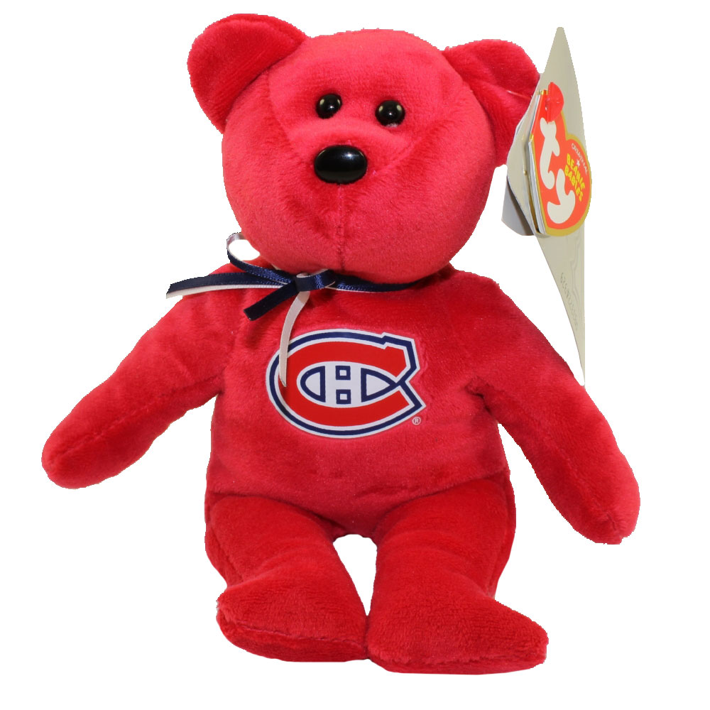TY Beanie Baby - NHL Hockey Bear - MONTREAL CANADIENS (8 inch)