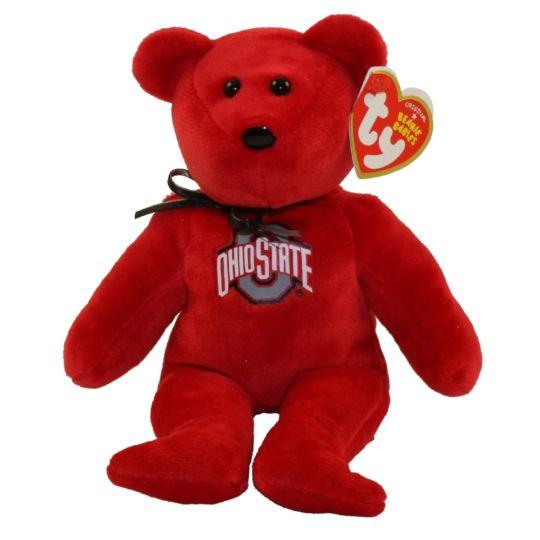0e656a8378e TY Beanie Baby - College Football Bear - OHIO STATE (8.5 inch)   BBToyStore.com - Toys