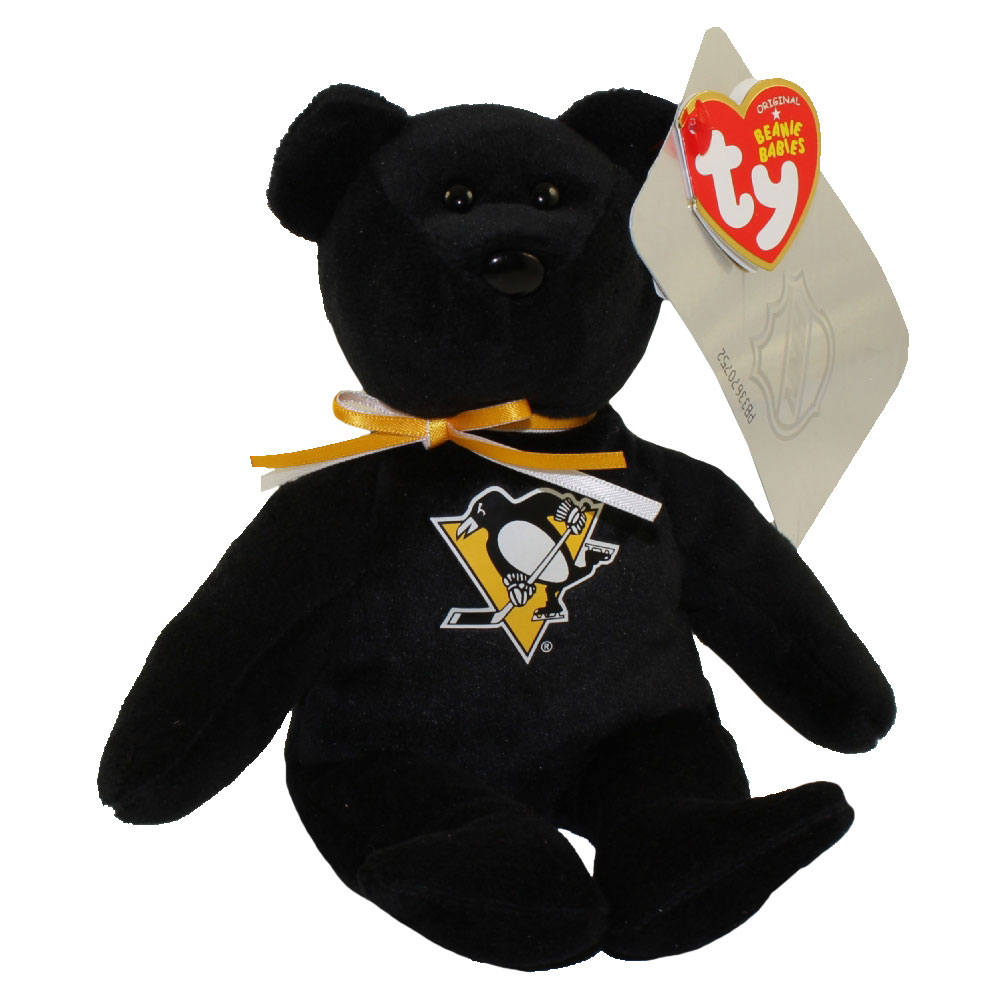TY Beanie Baby - NHL Hockey Bear - PITTSBURGH PENGUINS (8 inch)
