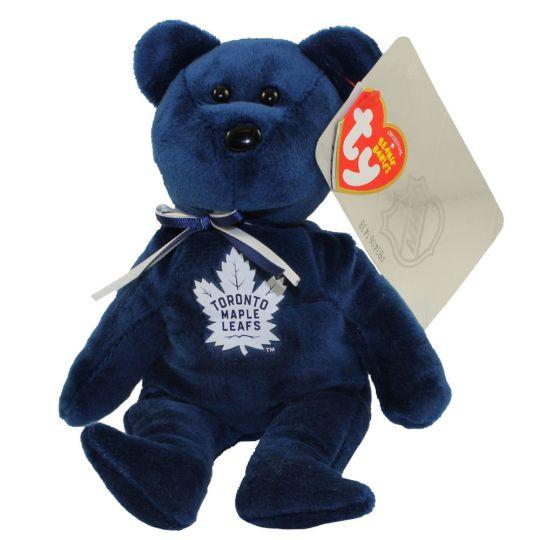 4df54fb5581 TY Beanie Baby - NHL Hockey Bear - TORONTO MAPLE LEAFS (8 inch)   BBToyStore.com - Toys