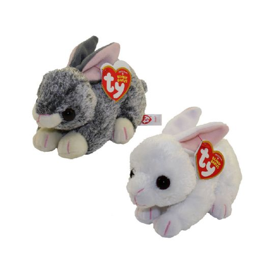 b0f52770fca TY Beanie Babies - 2018 Easter Bunnies SET of 2 (Smokey   Cotton) (6 inch)   BBToyStore.com - Toys
