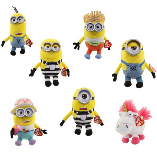 TY Beanie Babies - Despicable Me 3 - SET OF 7 (Fluffy 26bb9429828