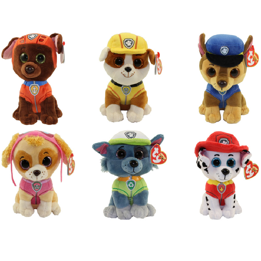 Ty Beanie Babies Paw Patrol Set Of 6 Chase Marshall