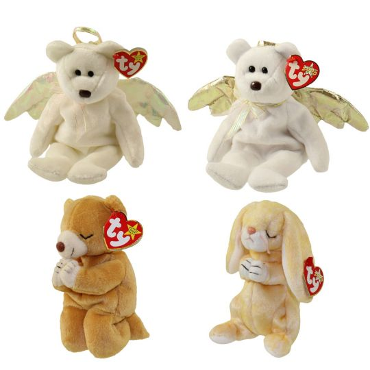 76cebf5abab TY Beanie Babies - ANGELS   PRAYING (Set of 4)(Halo