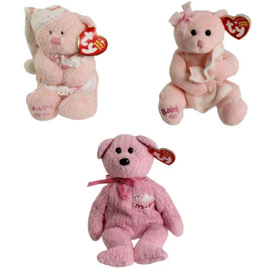 b5be0399c8e TY Beanie Babies - BABY GIRL the Bears (Set of 3 Styles) (6.5-8.5 inch)   BBToyStore.com - Toys