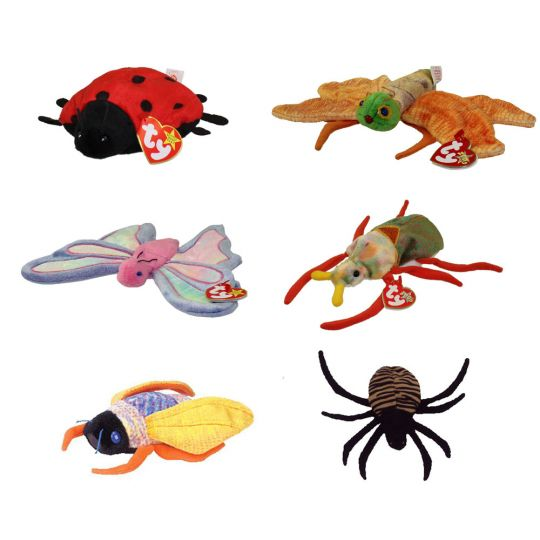f62fa384a45 TY Beanie Babies - BUGS (Set of 6)(Flitter