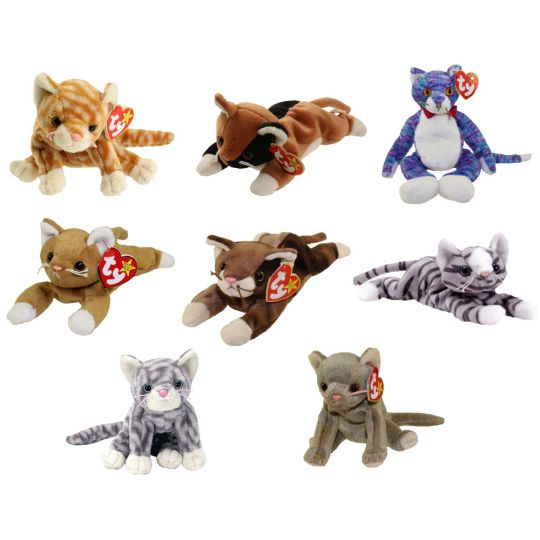 TY Beanie Babies - CATS (Set of 8)(Amber d173db61e82c