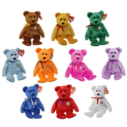 68ed5aadeea TY Beanie Babies - SET OF 10 DECADE BEAR COLORS  BBToyStore.com - Toys