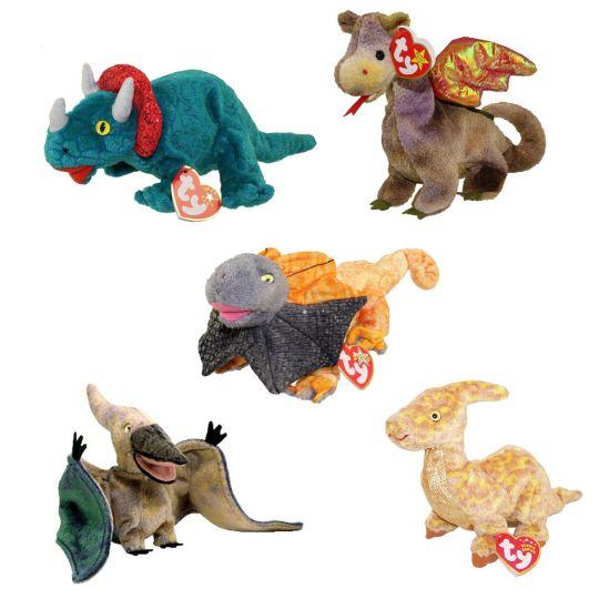 e50a755fb14 TY Beanie Babies - DINOSAURS   DRAGONS (Set of 5)(Hornsly