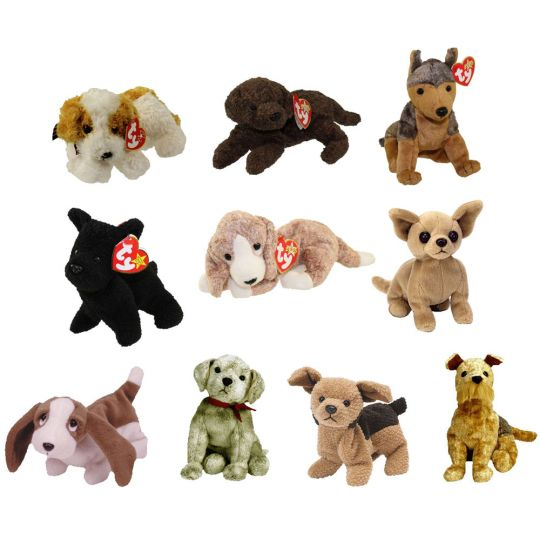 8713972b08e TY Beanie Babies - DOGS  2 (Set of 10)(Darling