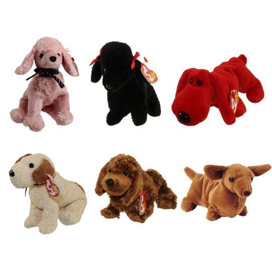 TY Beanie Babies - DOGS  3 (Set of 6)(Brigitte b17b8de02ae
