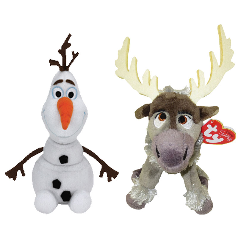 Ty Beanie Babies Set Of 2 Olaf Amp Sven Disney Frozen Bbtoystore Com Toys Plush Trading