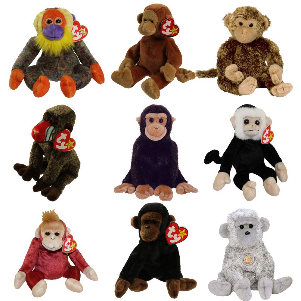 657a92e65b9 TY Beanie Babies - SET OF 9 PRIMATES (Mooch