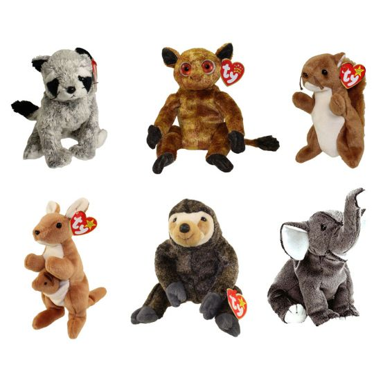 TY Beanie Babies - WILD ANIMALS  3 (Set of 6)(Bandito 2af1e2219ee