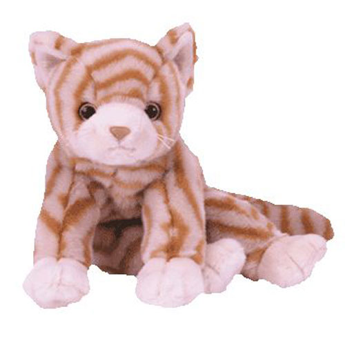 TY Beanie Buddy - AMBER the Gold Tabby Cat (10 inch)  BBToyStore.com -  Toys ef3a1c0f1ee