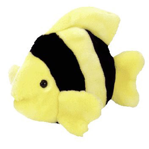 Ty beanie buddy bubbles the fish 10 inch bbtoystore for Fish beanie baby