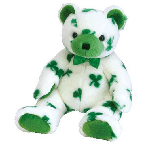 TY Beanie Buddy - CLOVER the Irish Bear (13.5 inch)  BBToyStore.com - Toys c4bea71c508a