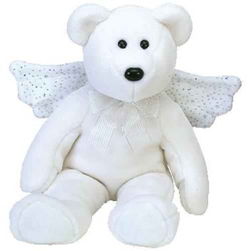 Ty Beanie Buddy Herald The Angel Bear 13 5 Inch