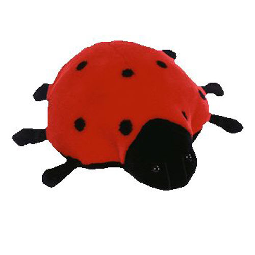 ty beanie buddy - lucky the ladybug  9 5 inch   bbtoystore com