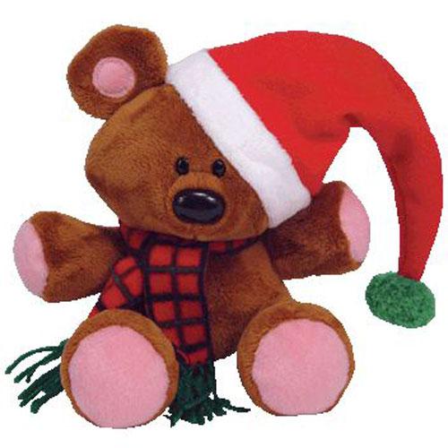 ty beanie buddy pooky the stuffed animal bear christmas hat version 85 - Christmas Stuffed Animals