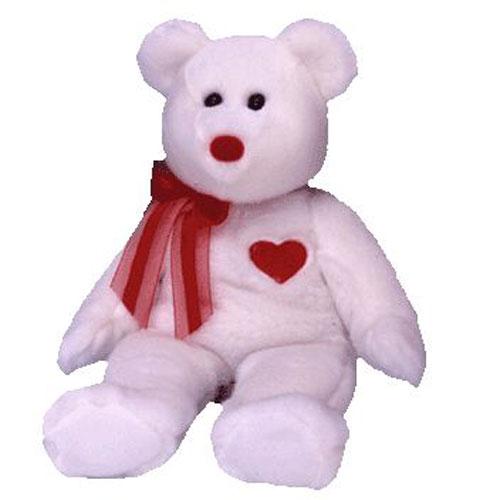 TY Beanie Buddy - VALENTINO the White Bear (14 inch)  BBToyStore.com -  Toys 47167f3e5135