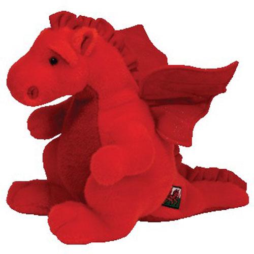 TY Beanie Buddy - Y DDRAIG GOCH the Dragon (UK Exclusive) (10 inch)   BBToyStore.com - Toys a55dc347baa2