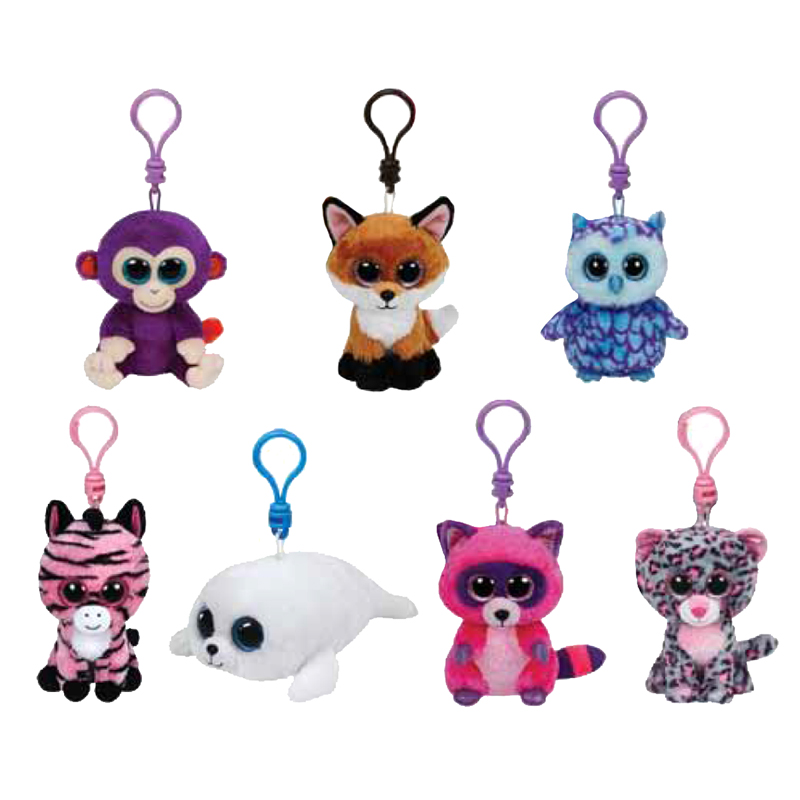 TY Beanie Boos SET of 7 2015 SPRING Releases Plastic Key Clips