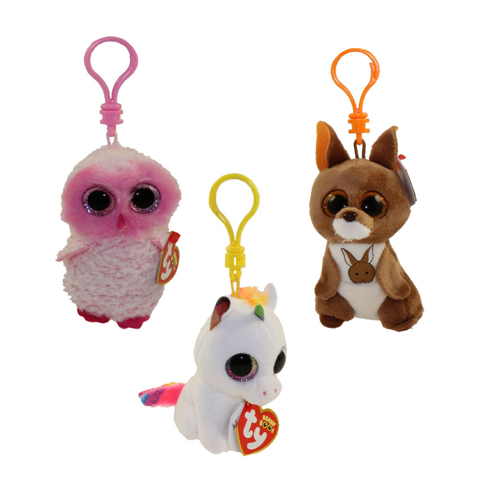 TY Beanie Boos - SET of 3 Fall 2017 Releases (Key Clips) (Pixy 08cf0b4c109b