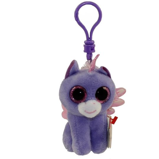 TY Beanie Boos - ATHENA the Pegasus (Glitter Eyes)(Plastic Key Clip - 3  inch)  Limited Exclusive   BBToyStore.com - Toys 5c285f9d0bf