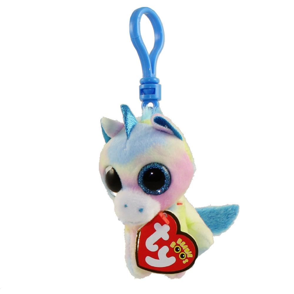 398b490e5f2 TY Beanie Boos - BLITZ the Unicorn (Glitter Eyes) (Plastic Key Clip)