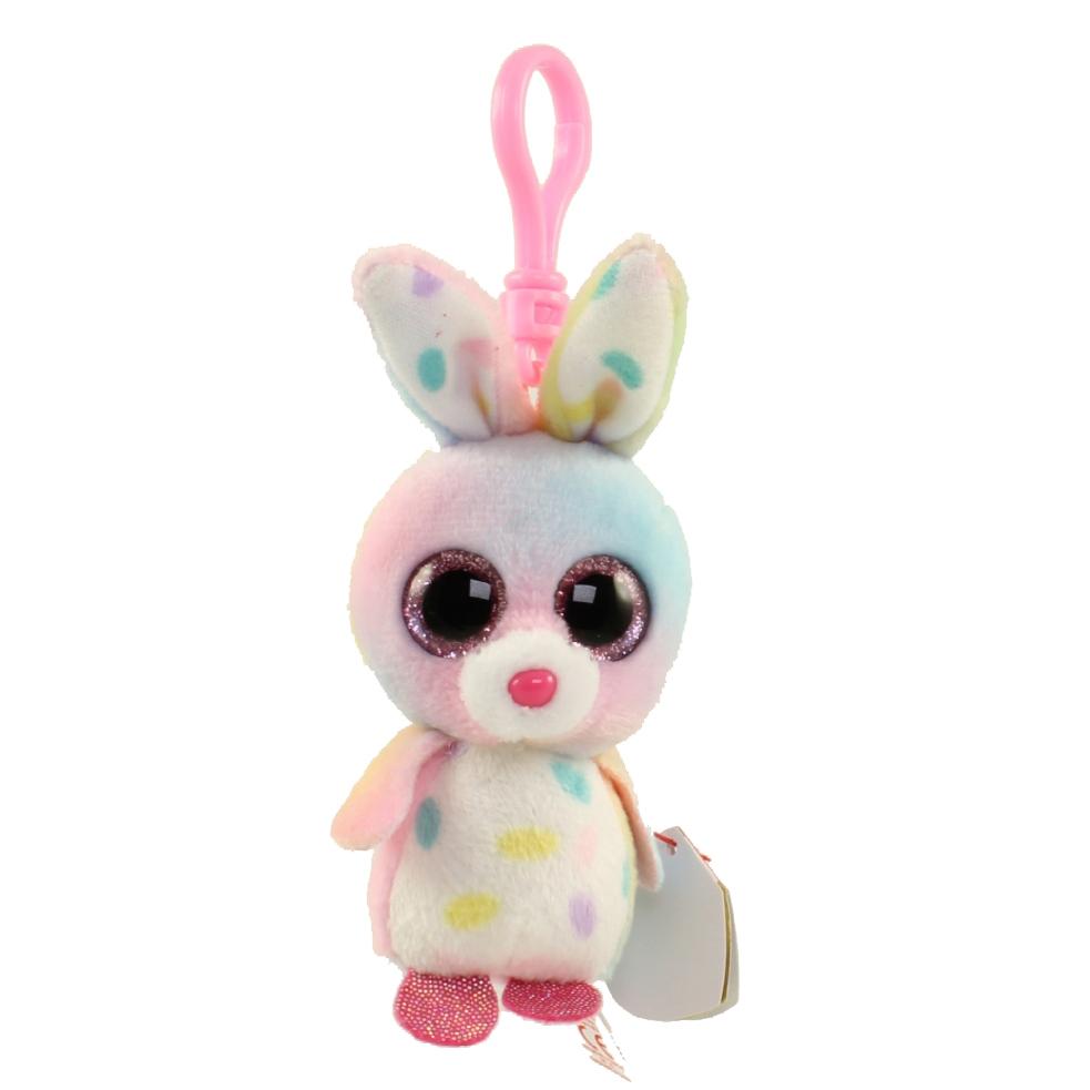 6a3830a19e6 TY Beanie Boos - BUBBY the Bunny (Glitter Eyes) (Plastic Key Clip -