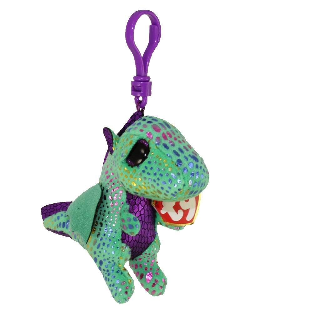 TY Beanie Boos - CINDER the Green Dragon (Glitter Eyes) (Plastic Key Clip)   BBToyStore.com - Toys d269472e1d4