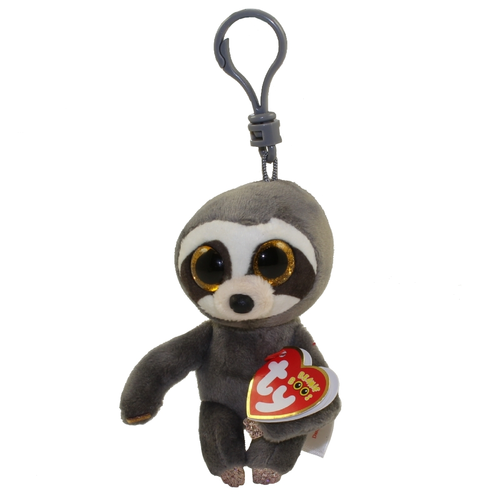TY Beanie Boos - DANGLER the Sloth (Glitter Eyes) (Plastic Key Clip)   BBToyStore.com - Toys 2be3e24f535b