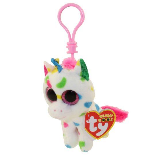 71c2d9cd4ee TY Beanie Boos - HARMONIE the Unicorn (Glitter Eyes) (Plastic Key Clip)   BBToyStore.com - Toys