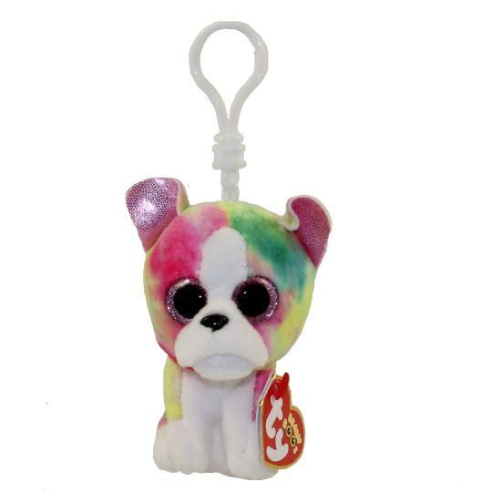 70d494ebd83 TY Beanie Boos - ISLA the Rainbow Dog (Glitter Eyes)(Plastic Key Clip - 3  inch)  Limited Exclusive   BBToyStore.com - Toys